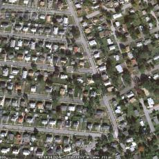 Arial view of Worcester neighborhood AFTER cutting down trees