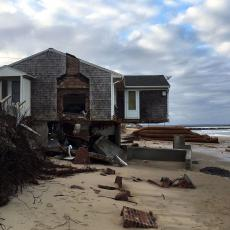 Home in Sandwich destroyed by March 2018 coastal storm. Photo credit Rebecca Westgate