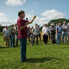 Frank Mangan at Mass Agriculture Field Day