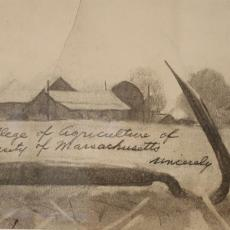 Norman Rockwell's signature to the College of Agriculture at the University of MA