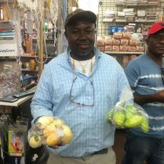 "Morvia African Market owner in Worcester sells jilo-""garden egg"""