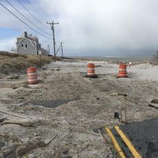 Beach erosion in Barnstable County