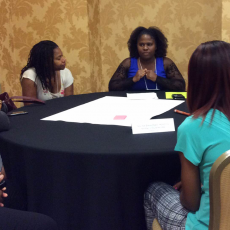 Vanessa Ford facilitates roundtable discussion at national conference as part of her breastfeeding research