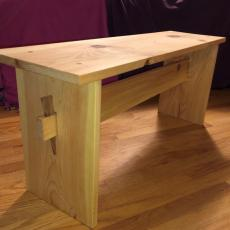 woodworking category, wood bench entered for 4-H virtual fair