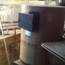 Corn boiler at Leaping Frog Farm