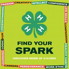 4-H week logo Find Your SPARK