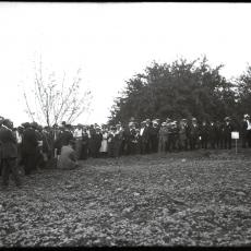 1922 Farmers week at MAss Aggie in the field