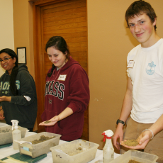 Students study soil in hands-on workshop