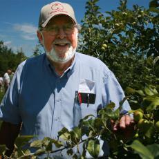 Frank Carlson examines crops