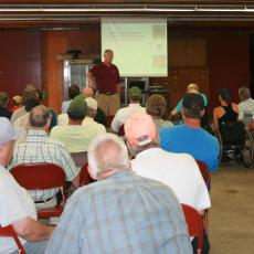 Dean Steve Goodwin welcomes Mass fruit farmers to Cold Spring Orchards
