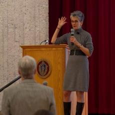 Frances Moore Lappe addresses Biochar conference attendees