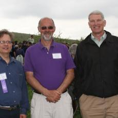 Joe Shoenfeld and Bob Schrader, Assoc. Directors with CAFE and Dean Steve Goodwin