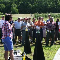 Tracy Leskey, from the USDA Appalachian Fruit Research Station provided educational program