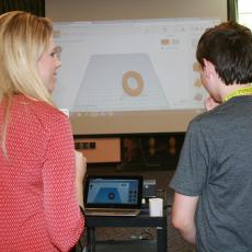 Savvy Society co-founder, Alexa Fleischman teaches CAD design to 4-H