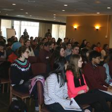 Few seats were left empty at the February 3rd event in the UMass Amherst Campus Center.