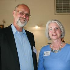 Bob Schrader, UMass celebrates with Laurie Flanagan, MA 4-H Foundation Exec Dir