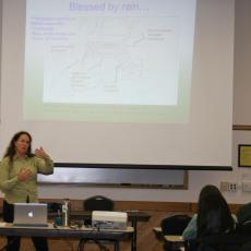 Christine Hatch offers workshop related to issues of climate change and flooding