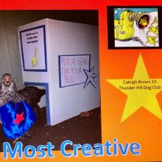 Caleigh Brown. Thunder Hill Club won most creative animal costume