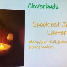Mary-Anne Niall, Homeschool Homesteaders, took the prize for spookiest jack-o-lantern