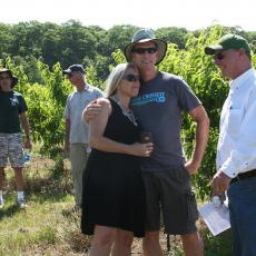 Mass fruit farmers meet and greet in the orchard