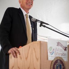 Dean Steve Goodwin welcomes attendees