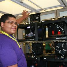 4-H camper with 3D printers