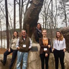 Katie Campbell Nelson, Jon Clements, Elizabeth Garafalo, Genevieve Higgins and Nicole Foley attend iPiPE mixer in NC