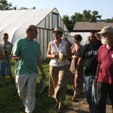 Just Roots Farm tour with Jim McGovern, Jess Van Steensburg and Jay Lord