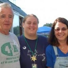 Joe Major at Sunnyrock 4-H with Maria Cataldo (to far left)
