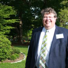 Kent Lage, Board Chair enjoys the reception