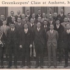 "1927 ""The Greenkeepers' Class' at Amherst-Mass Agricultural College"