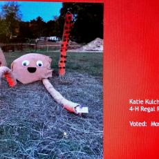 Katie Kulchuck, Regal Riders, submitted the most creative scarecrow