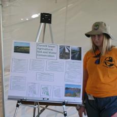 Oliver Ames High School at presentation tent