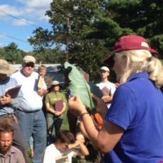 Ruth Hazzard, UMass Extension Educator instructs at Powisett Farm