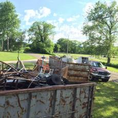 Scrap metal collection helped to raise $1500 for Berkshire County 4-H Fair