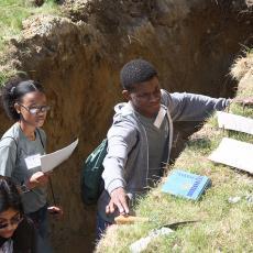 Soil tests at MA Envirothon