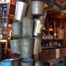 Maple sugar buckets at Davenport Sugar House
