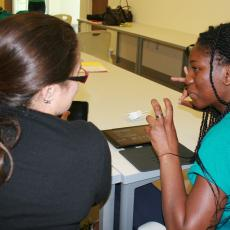 4-H camper, Briyanna Henry, learns about movie making