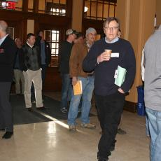 Attendees arrive from across the state