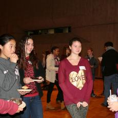 UMass students meet with high school students