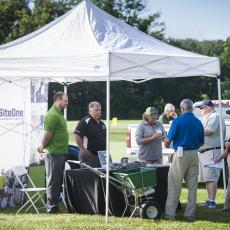 Turf Field Day 2017: Field Day participants meet with industry exhibitors at the trade show