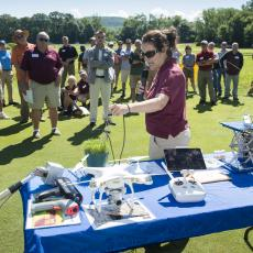 Turf Field Day 2017: Dr. Michelle DaCosta talks about the value of technology for turfgrass research