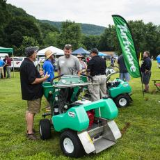 Turf Field Day 2019: The day included an on-site trade show, with many industry representatives on hand.