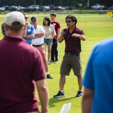Turf Field Day 2019: Dr. Geunhwa Jung presented research about SDHI resistance in the dollar spot pathogen