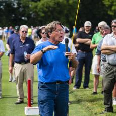 Turf Field Day 2019: Dr. Scott Ebdon spoke about research for grass tennis surfaces