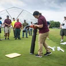 Turf Field Day 2019: Dr. Olga Kostromytska demonstrated scouting techniques for common insect pests