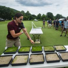 Turf Field Day 2019: Dr. Lindsey Hoffman discusses establishment techniques for winter recovery