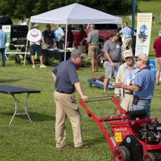 Turf Field Day 2021: The day included an on-site trade show, with many industry representatives on hand.