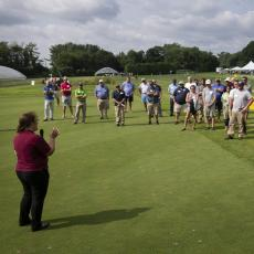 Turf Field Day 2021: Dr. Olga Kostromytska presented research on monitoring for annual bluegrass weevil, as well as the latest on the billbug complex in Massachusetts.