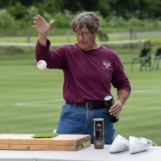Turf Field Day 2021: Dr. Scott Ebdon provided an update on grass tennis research at UMass.